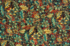 Texture fabric leaf and paisley Royalty Free Stock Image