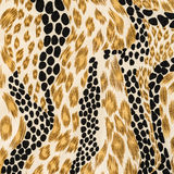 Texture of fabric striped leopard Royalty Free Stock Images
