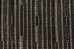 A close up of woven synthetic material texture; beige and brown natural colours, background image. royalty free stock photos