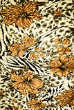 texture fabric of tiger prints Stock Photography