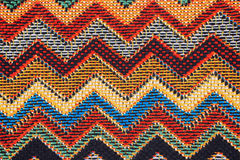 Texture of  fabric with  traditional Mexican pattern Stock Photography