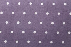 Texture - fabric - white dots on purple Stock Photos