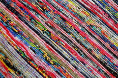 Texture of fabrics color style rug surface. Royalty Free Stock Images