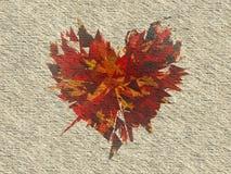 Texture fabriquée à la main de papier blanc de vintage avec la copie de coeur Photo stock