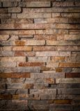 Texture of facade stone. Wall with exterior masonry. royalty free stock photo