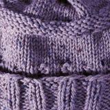 Texture faite main pourprée de Knit Image stock