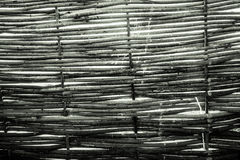 Texture of the fence from the vine Royalty Free Stock Photography