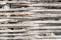 Texture of fence of woven willow twigs for background Stock Photo