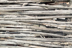 Texture of fence of woven willow twigs for background Royalty Free Stock Photography