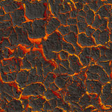 Texture fiery lava. Seamless image Stock Photo