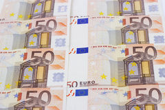 Texture of fifty euro Stock Image