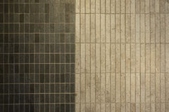 Texture of fine ceramic tiles. Two tone of ceramic tile Stock Images