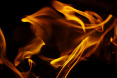 Texture of fire on a black background flash Royalty Free Stock Image