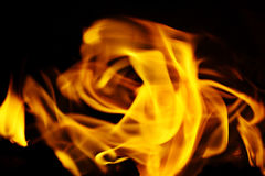 Texture of fire on a black background flash Stock Image