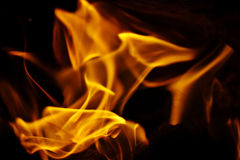 Texture of fire on a black background flash Stock Photos