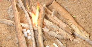 Texture of fire place Stock Image