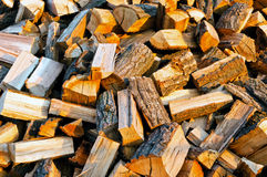 Texture of firewood Stock Photo