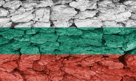 Texture of the Flag of Bulgaria. Texture of the Flag of Bulgaria on a decorative tree bark Stock Image