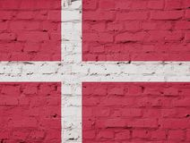 Texture of a flag of Denmark. royalty free stock image