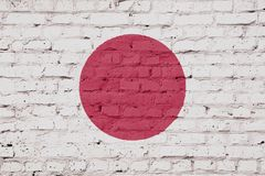Texture of Japan flag. royalty free stock image