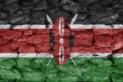 Texture of Kenya  flag. Texture of the Flag of Kenya  on a decorative tree bark Royalty Free Stock Photos