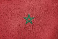 Texture of flag of Morocco royalty free stock photography