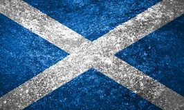Texture of the flag of Scotland. On a marble tile royalty free stock photos