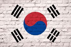 Texture of a flag of South Korea vector illustration