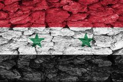 Texture of the Flag of Syria. stock photos