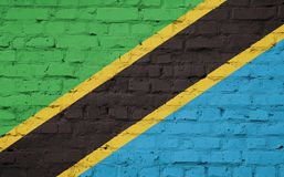 Texture of a flag of Tanzania royalty free illustration
