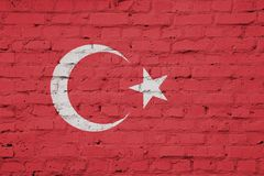 Flag of Turkey texture royalty free stock photo