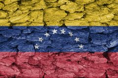 Texture of flag Venezuela royalty free stock photography