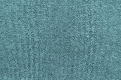 Texture of fleecy knitted fabric blue indigo color Stock Images
