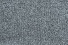 Texture of fleecy knitted fabric gray color Stock Images