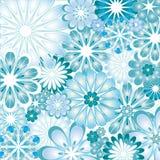 Texture fleurie bleue d'illustration de vecteur Photo libre de droits
