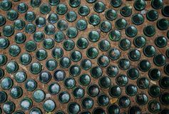 Texture of the floor of the bottle royalty free stock image