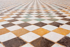 Texture of the floor in the El Badi Palace Stock Images