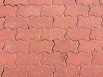 Texture of floor of orange bricks Royalty Free Stock Photo