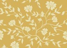 Texture florale beige sans joint illustration libre de droits