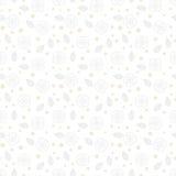 Texture florale blanche avec de petites fleurs écervelées Photo stock