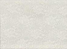 Texture florale blanche de dentelle pour le fond Photographie stock