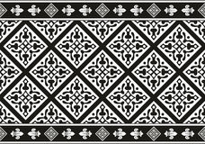 Texture florale gothique noire et blanche sans joint Image libre de droits