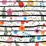 Texture florale sans joint Images libres de droits