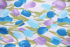 Texture of flower fabric Royalty Free Stock Image