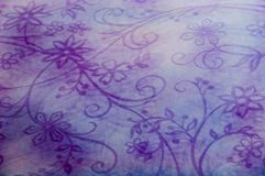 Texture flowered textile Royalty Free Stock Images