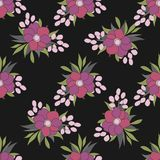 Texture with flowers and plants. Floral ornament. Original flowers pattern stock illustration