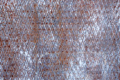 Texture of fluted rusty metal plate Royalty Free Stock Photo