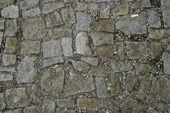 Texture focalisée du plancher en pierre avec la saleté autour Image stock