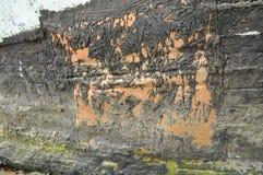 Texture foncée de fond de sable de noir de charbon Photographie stock