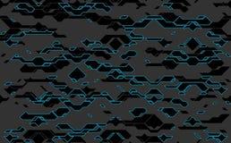 Texture foncée futuriste de techno de vecteur abstrait sans couture Transparent dans le format supplémentaire illustration stock